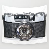 pen Wall Tapestries featuring OLYMPUS-PEN by Regan's World
