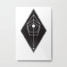 Rhombus texture geometry Metal Print