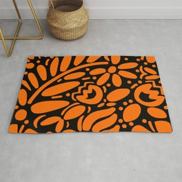 Beautiful Orange Otomi Rug
