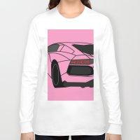 lamborghini Long Sleeve T-shirts featuring Lamborghini Aventador by societystar
