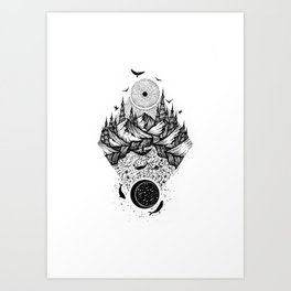 Sun vs Moon Art Print