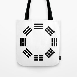 Black Hexagon I ching Feng Philosophy Tote Bag
