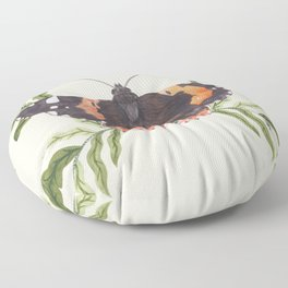 Red Admiral Butterfly Floor Pillow