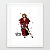 martell Framed Art Prints featuring Catherine Martell Pin-up by Emma Munger