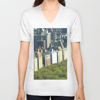 central park V-neck T-shirts featuring New York Central Park  by Premium