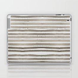 Simply Shibori Stripes Earth Brown on Lunar Gray Laptop & iPad Skin