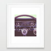 mustang Framed Art Prints featuring Mustang by Jeremiah Locke
