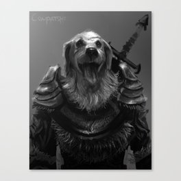 Lord Pup of Caninia Canvas Print
