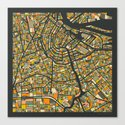 AMSTERDAM MAP by jazzberryblue