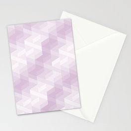 Tiles background in different shades of purple made with triangles mosaic Stationery Cards