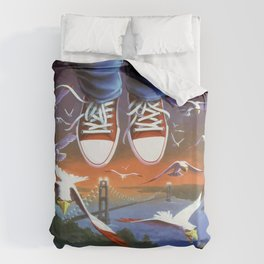 How I Learned to Fly Duvet Cover