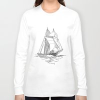 sailing Long Sleeve T-shirts featuring Sailing by Texnotropio