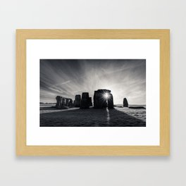 The sun and the stones Framed Art Print