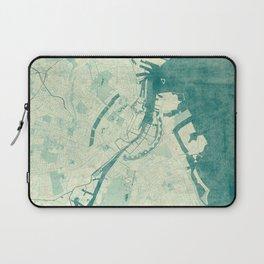Copenhagen Map Blue Vintage Laptop Sleeve