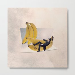 The banana curve tester Metal Print