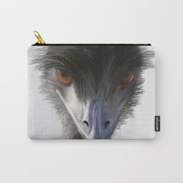 Suspicious Emu Stare, watercolor Carry-All Pouch