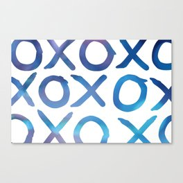 XOXO in Turquoise Canvas Print