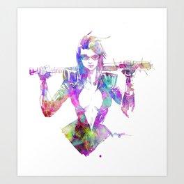 NAIL BAT Art Print
