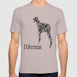 Doberman Scribble T-shirt