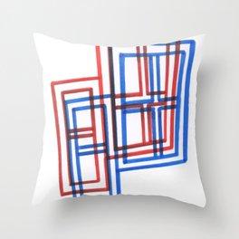 2D 3D Windows Throw Pillow