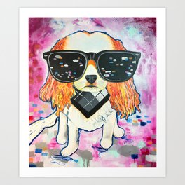 Puppy Pop Art Print