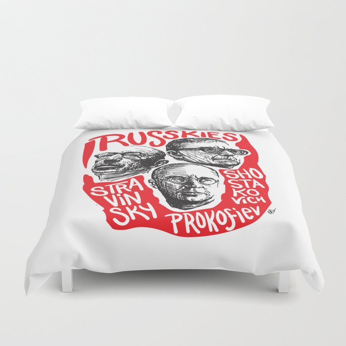 Russkies-Russian composers Duvet Cover
