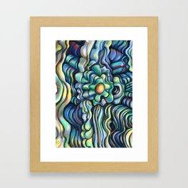 Knotted Flower- digital painting Framed Art Print