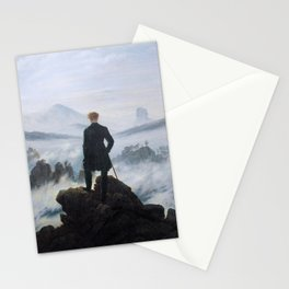 Wanderer above the Sea of Fog (High Resolution) Stationery Cards