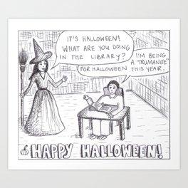 Halloween Cartoon Art Print