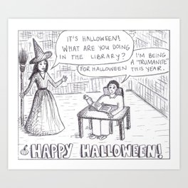 Halloween Cartoon Art Print