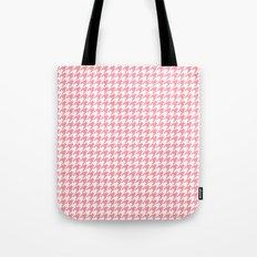 Pink Houndstooth Pattern Tote Bag