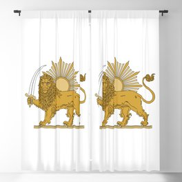 Lion & Sun Emblem of Iran, 1979-1980 Blackout Curtain