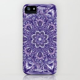 Great Purple Mandala iPhone Case
