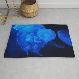 Blue Jelly Fish Rug