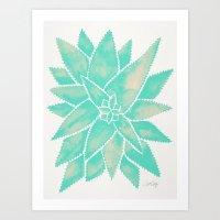 Aloe Vera – Mint Palette Art Print