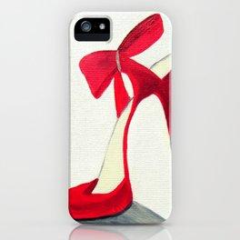 Red High Heel Shoe iPhone Case