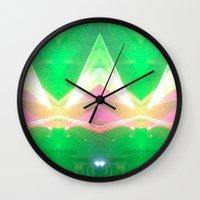 illuminati Wall Clocks featuring Illuminati by Ali Manno