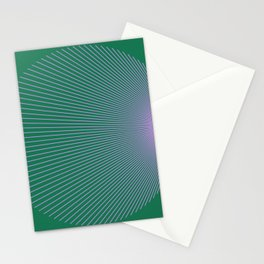 Purple n Green Lines 001 Stationery Cards