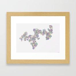 Overlap Framed Art Print