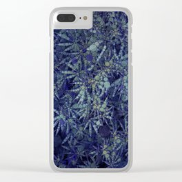 Delicious Blue Cannabis Delight Clear iPhone Case