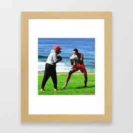 Bondi Boxer Framed Art Print