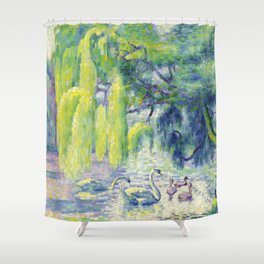 "Henri-Edmond Cross ""Famille De Cygnes"" Shower Curtain"