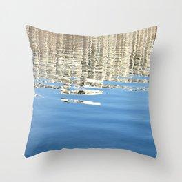 White Water Reflection Throw Pillow