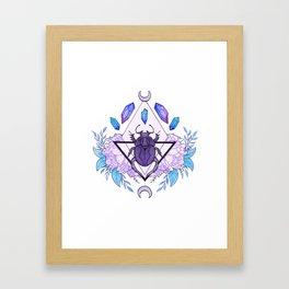 Scarab Queen Framed Art Print