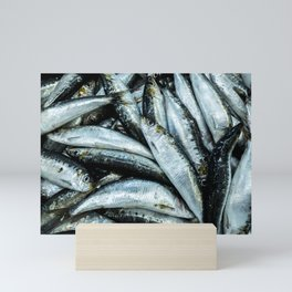 Sardines... Lots of sardines, in a public market in Portugal Mini Art Print