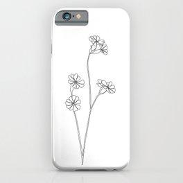 Wild flower botanical drawing - Ilana iPhone Case