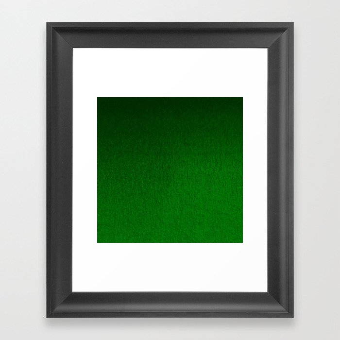 Emerald Green Ombre Design Gerahmter Kunstdruck