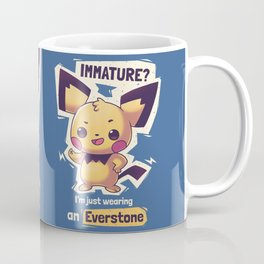 Immature? Im just wearing an Everstone // Cute Funny Electric Type, Gaming Coffee Mug