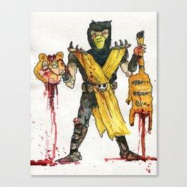 Scorpion Vs. Garfield Canvas Print