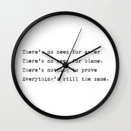 Everything's still the same - Lyrics collection Wall Clock